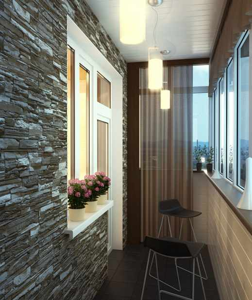 Дизайн балкона полукруглого