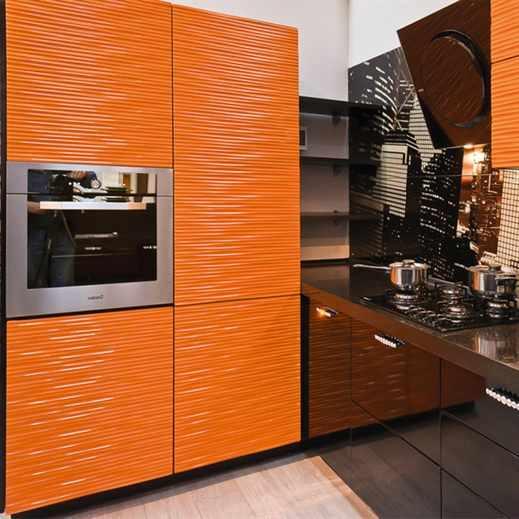Шторы для оранжевой кухни
