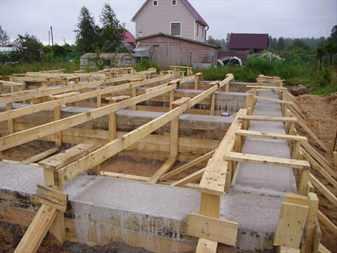 Заливка фундамента дома