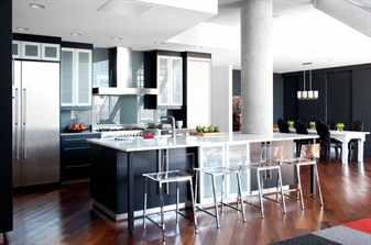 Кухня с линолеумом