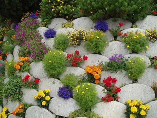 Оформление сада цветами фото