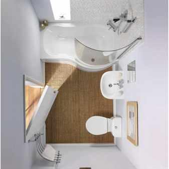 Интерьер компактной ванной комнаты