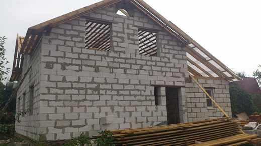 Строим дом из газобетона фото
