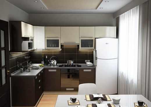 Дизайн кухни маленького размера