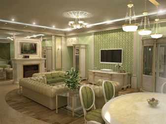 Устройство освещения в гостиной