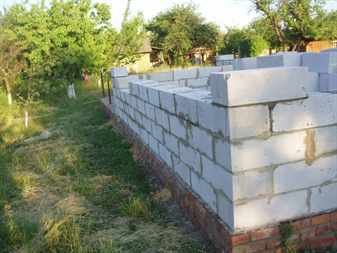 Процесс строительства дома из газосиликатных блоков
