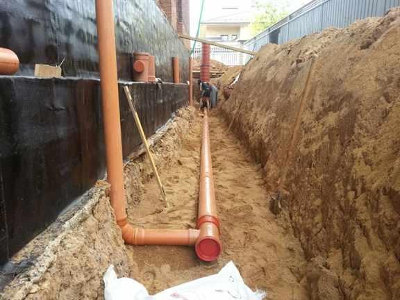 Дренаж из канализационных труб