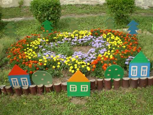Оформление цветников в детском саду своими руками фото