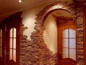 Декор из камня в квартире