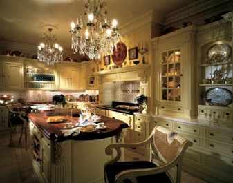 Люстра в стиле ретро на кухне