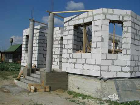Дом своими руками из газосиликата видео