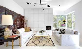 Комната с элементами декора в стиле эклектика