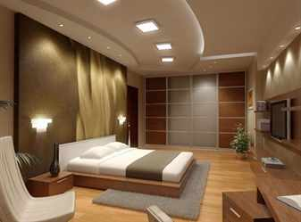 Бежевая комната с подсветкой
