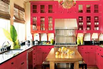 retro-decorative-items-hot-pink-kitchen