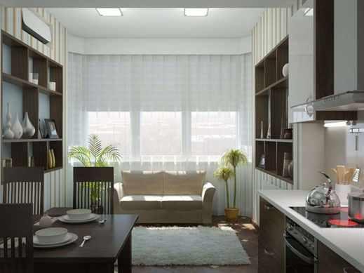 Интерьер кухни с диваном в  Москве