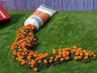Цветочный ручей в ландшафтном дизайне