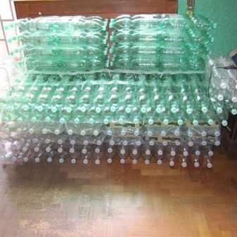Мастер класс мебель из бутылок своими руками 66