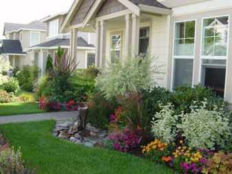Garden And Patio Various Plants And Colorful Flower Plants Around House Landscaping Front Yard With Green Grass And Stone Ideas Plants For Landscaping   in The Brilliant  landscape ideas for front of house stone pertaining to  Residence -