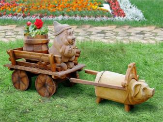 Как сделать своими руками декоративную телегу для сада своими руками 95
