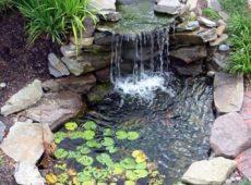 Водопад в саду своими руками