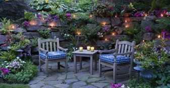 украшаем уголки для отдыха в саду