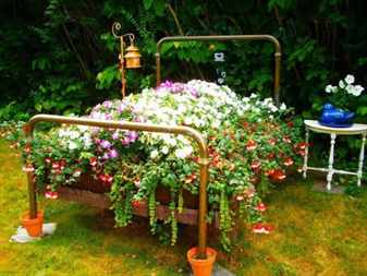 необычные идеи для садовых клумб