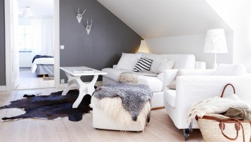 Скандинавский стиль комнаты.
