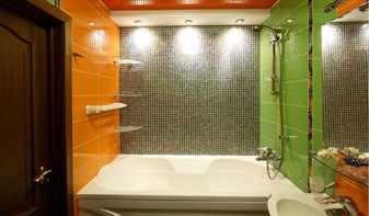 Интерьер ванной комнаты после ремонта