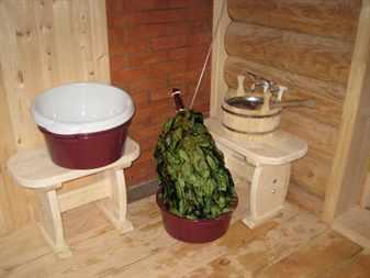 Принадлежности для использования в бане