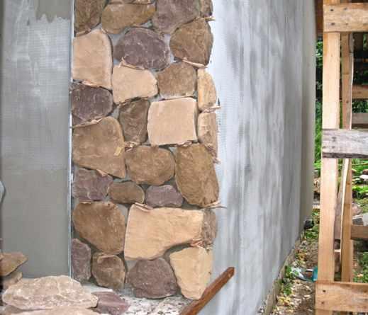 Стена как из камня своими руками