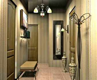 Дизайн интерьера прихожей в классическом стиле