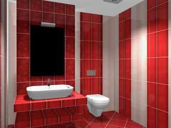 Дизайн ванной комнаты кафельной плиткой