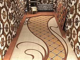 Комната украшена красивыми узорами