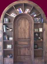 старый книжный шкаф