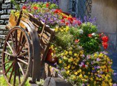 Декоративная телега для сада своими руками