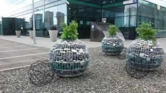 Использование габионов в ландшафтном дизайне