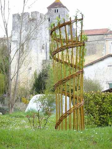 Плетеные деревья из лозы